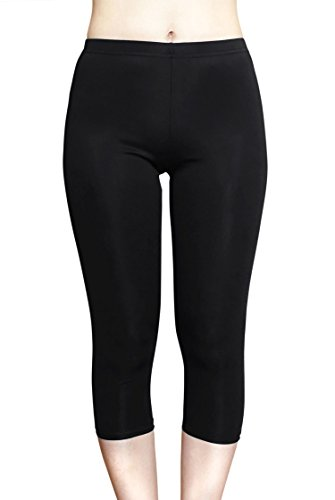 - COCOSHIP Black Ladies Capris UPF 50+ Water Pants Tankinis Multipurpose Swim Sport Leggings 2XL(FBA)