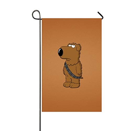WATINCFlagHomegg Brian Griffin Family Guy Double-Sided Appliqu¨¦ Garden Flag-12 W by 18¡±H-Outdoor Flag