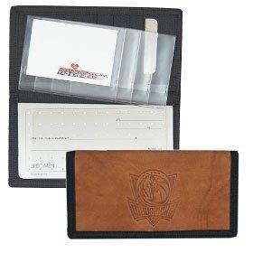 Dallas Mavericks Leather/Nylon Embossed Checkbook Cover by Hall of Fame Memorabilia