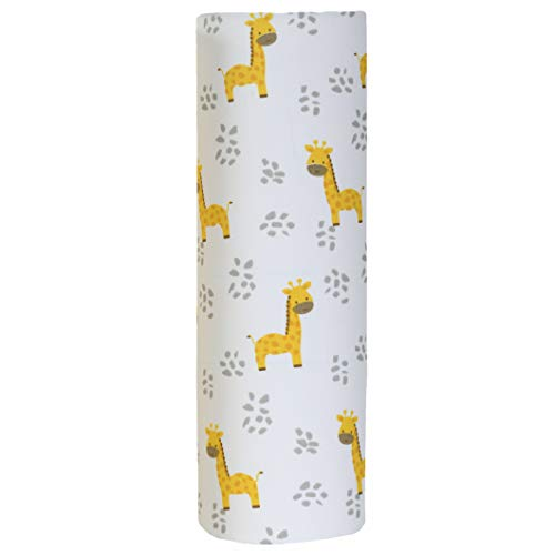 Cuddles & Cribs 1 Pack Organic Cotton Fitted Crib Sheet (Cute Giraffe, 1 Pack)