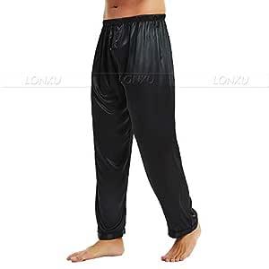 Pijamas de satén de Seda para Hombre Pijamas Pantalones de chándal ...