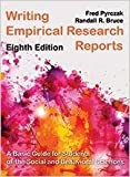 Writing Empirical Research Reports, Fred Pyrczak and Randall R. Bruce, 1936523361