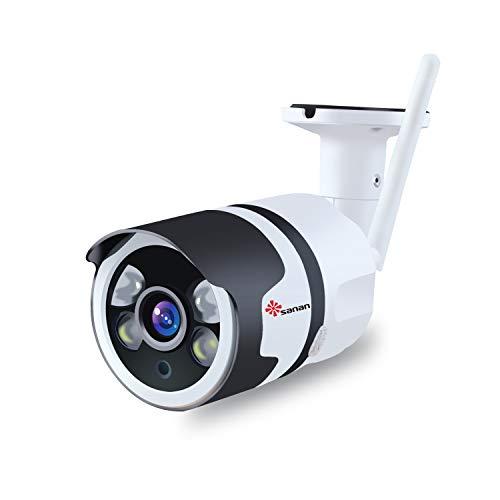Outdoor Surveillance Camera,Sanan Security Camera 1080P IP66 Weatherproof Night Vision Two-Audio Way WiFi Wireless Camera Sanan
