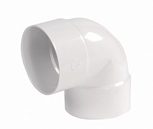 NDS 6P02 PVC 90-Degree Elbow Solvent Weld Fitting, 6-Inch, - Solvent Pvc