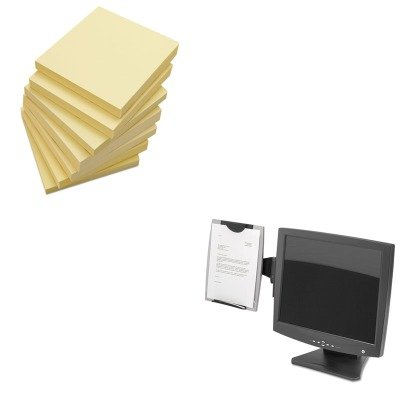 Monitor Copyholder Fellowes Mount (KITFEL8033301UNV35668 - Value Kit - Fellowes Office Suites Monitor Mount Copyholder (FEL8033301) and Universal Standard Self-Stick Notes (UNV35668))