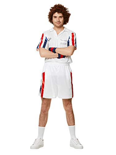 Tennis Player Costume Set - Halloween Mens 80s Sports Athelete, Large -