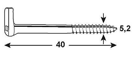 Connex KL5080001 - Gancho atornillable: Amazon.es: Bricolaje y herramientas