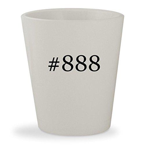 #888 - White Hashtag Ceramic 1.5oz Shot Glass
