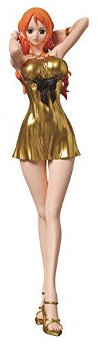 Banpresto One Piece Film Gold Glitter & Glamours Nami Movie Style Action Figure (Gold Dress Version)