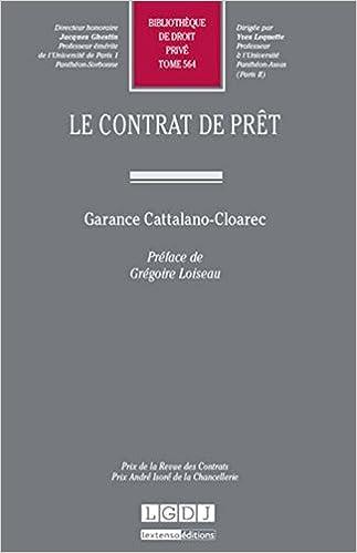Télécharger en ligne Le contrat de prêt. Tome 564 epub pdf