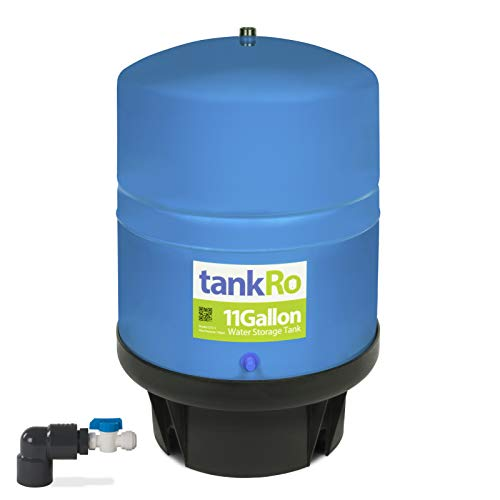 11 Gallon RO Expansion Tank - Large Reverse Osmosis Water Storage Pressure Tank by tankRO - with FREE Tank Ball Valve