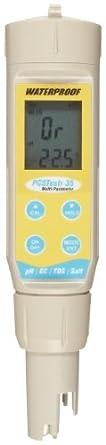 Oakton PCSTestr 35 Waterproof Multiparameter Tester, For pH, Conductivity, TDS, Salinity and Temperature, 0.0 to 14.0 pH Range