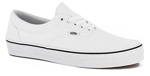 Vans Unisex Era True White/Black Sneakers (13.5 B(M) US Women / 12 D(M) US (Vans Era White)