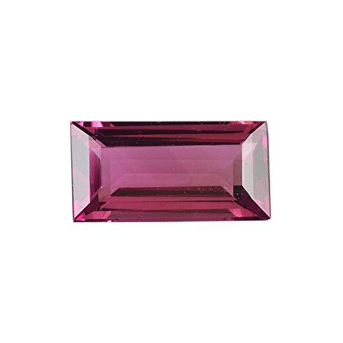 Rasav 0.79 cts Natural Pink Tourmaline 8x4x2.7 mm 1 Piece Baguette Cut Loose Gemstone - TUPNK-1120