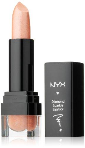 NYX Cosmetics Diamond Sparkle Lipstick, Sparkling Nude,  0.1