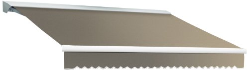 Awntech 20-Feet Destin-LX with Hood Left Motor/Remote Retractable Awning, 120-Inch, -