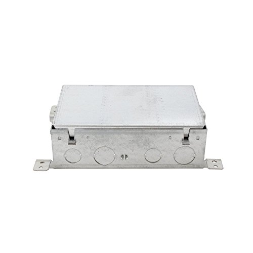 Wiremold 880M2 Stamped Steel 2-Gang Shallow Floor Box 7-15/16 Inch x 4-13/16 Inch x 2-15/32 Inch 80 Cubic-Inch OmniBox (Wiremold Floor Box)
