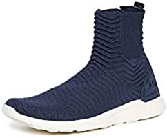 APL: Athletic Propulsion Labs Men's Techloom Chelsea Sneaker Boots, Midnight/Pristine, Blue, 8 Medium US