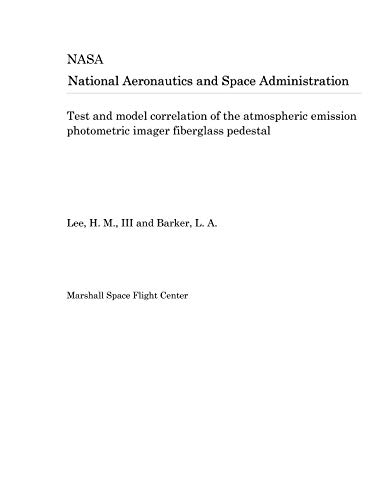 Test and model correlation of the atmospheric emission photometric imager fiberglass pedestal