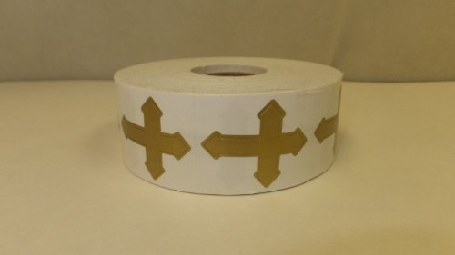 Perforated Cross Tanning Stickers, Roll of 1000