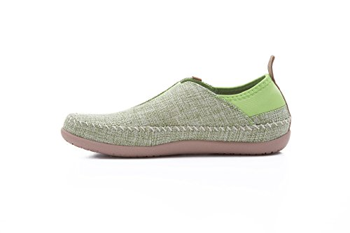 Uin Womens Torres Slip-on In Lino Casual Verde