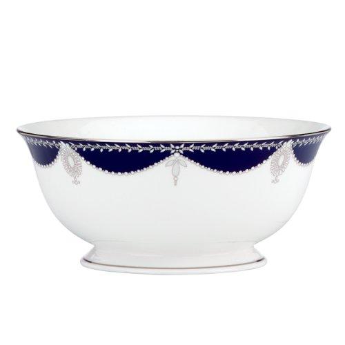 Lenox Marchesa Couture Serving Bowl, Empire Pearl Indigo