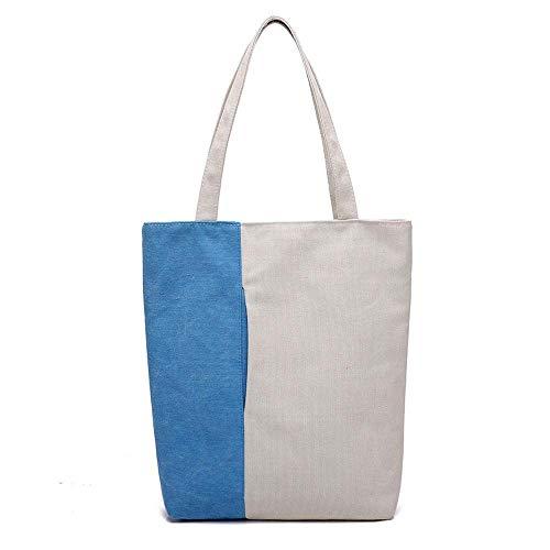 Off Zaino signore grande Wwave le capacità elegante Borsa Baotan Borse a blu Shoulder per Leisure Shopping Canvas xHAY7qSw