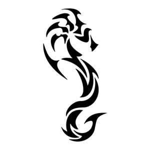 Tatuaggio Disegno Di Un Cavalluccio Marino Adesivi Adesivo
