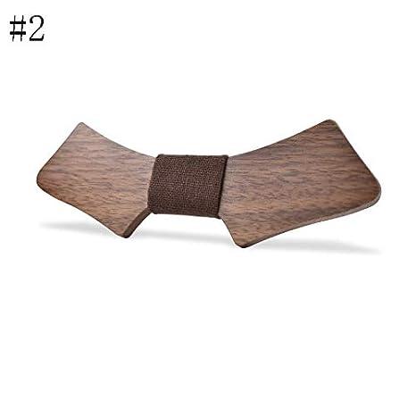 LLTYTE Corbata de Lazo Corbata de Lazo de Madera Git Personalizada ...