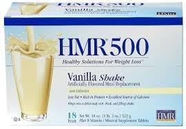 HMR 500 Vanilla Shake, Meal Replacement, 100 Calories, Box of 18 Servings, 1 pack