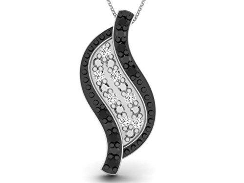 Or Blanc 18 ct Pendentifs Diamant en forme de feuille, 0.02 Ct Diamant, GH-SI, 0.8 grammes.