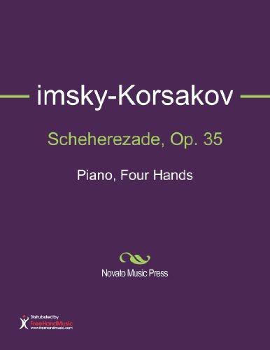 Scheherezade, Op. 35 Sheet Music (Piano, Four Hands) [Rimsky-Korsakov, Nikolay] (Tapa Blanda)