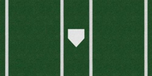 Trigon Sports Pro Baseball Turf Home Plate Mat, 6' x 12', Green