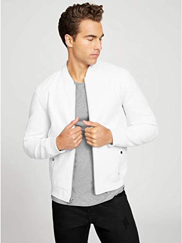 G by GUESS Men's Penfield Faux-Leather - Jacket White Guess