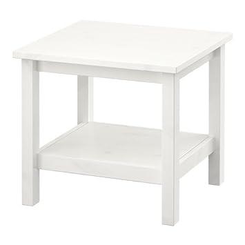 Ikea Hemnes Mesa Auxiliar Blanco Mancha Blanca 55x55 Cm Amazon