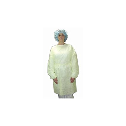 McKesson Isolation Gown, Disposable, Yellow, Case of 50