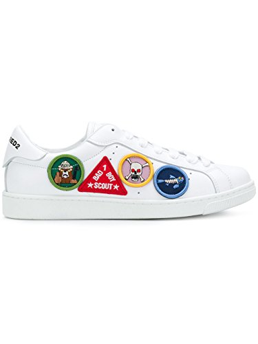 DSQUARED2 Herren SNM0403065002851062 Weiss Leder Sneakers
