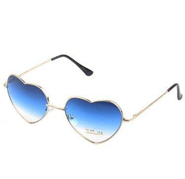 Gafas Sol con Forma de de corazón Mujer Cristoferv metálica corazón Diseño azul con de Forma para Montura con dEOwpxwq4v
