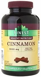 Finest Nutrition Cinnamon 1000mg, 180 Capsules