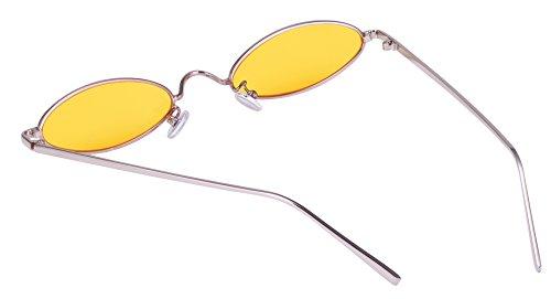 Metal de con Sol de Caramelo Gafas Aooffiv Marco Diseño Vintage ovaladas Color xYw04n1B