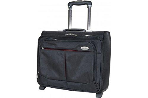 Dacomex Nylon Notebook-Trolley 39,6 cm (15,6 Zoll) schwarz/rot