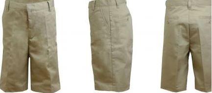 K&A Company Boys Husky Khaki Flat Front Shorts - Size 12H Case Pack 24 by K&A Company