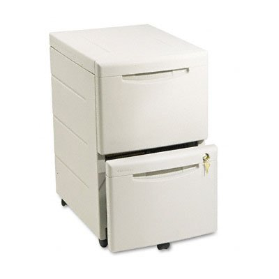 Underdesk Mobile Pedestal File - Iceberg ICE95413 Aspira High-Density Plastic Mobile Underdesk Pedestal with 2 Drawer, 16-1/2