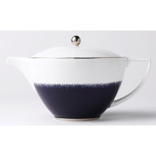 Jasper Conran China: Navy Fringe Oval Teapot