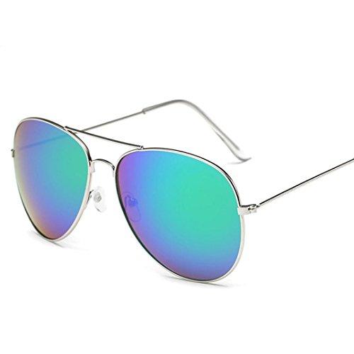 E aire libre Deportes Hombres al Mujeres gafas Winwintom sol Color Gafas Gafas de Plaza Vintage de espejo fwUXqYga