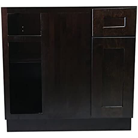 Design House 613802 Brookings 36 Fully Assembled Kitchen Blind Base Cabinet Espresso Shaker
