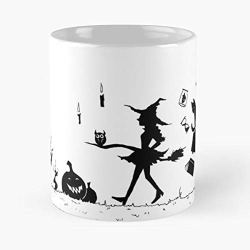 Witch Magic Inktober Halloween - 11 Oz Coffee Mugs Unique Ceramic Novelty Cup, The Best Gift For Halloween. -