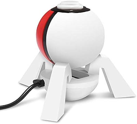 Base de Carga KINGTOP Soporte de cargador con cable de carga USB para el controlador Poké Ball Plus (interruptor de Nintendo): Amazon.es: Videojuegos