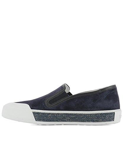 Tod's Slip On Sneakers Donna XXW26A0T542CM9U824 Camoscio Blu