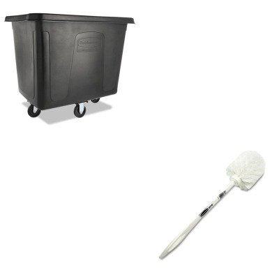 KITRCP631000WERCPFG461600BLA - Value Kit - Rubbermaid Cube Truck (RCPFG461600BLA) and Rubbermaid Toilet Bowl Brush (RCP631000WE)